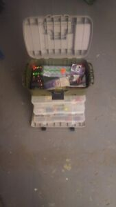 Fishing  Tackle Box and aasorted lures