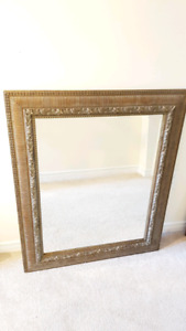 Large heavy ornate antique style mirror