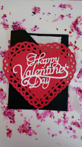 Happy Valentine's Day Hot Chocolate Pouch Holders