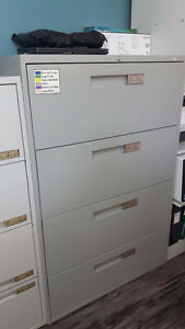 Two 4 drawer lateral filing cabinets