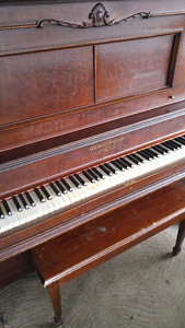 Priced to Sell! New Scale Williams Mahogany Piano! - $400
