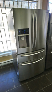 Refrigerateur samsung 33 pouce stainless Steel 950$