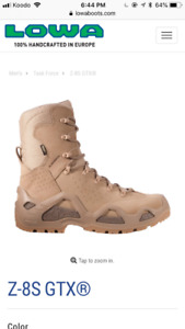Lowa Tactical Army Boots GTX Desert New Unused Size 9.5