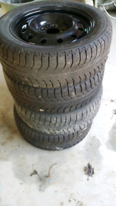 Snow tires 5 x 112 with rims