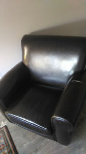 2 Faux Leather Arm Chairs