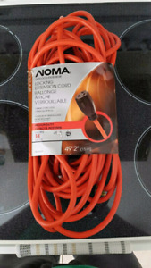 NOMA Outdoor Extension cord, 14-gauge, 49ft./ 15m
