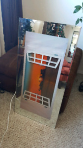 Sunset & Ocean, Sound & Light up Mirrored Picture
