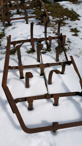 Antique plowing equipment