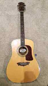 ** SOLD** Washburn timbrewood  acoustic guitar  and accessories