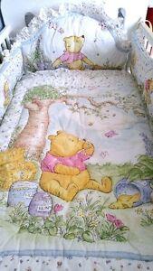 PRICED REDUCED --Pooh Classic Crib Bedding 7 Piece Set