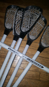 SET of 6 MINITOSS Lacrosse Sticks