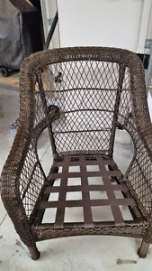 Wicker exterior chairs with cushions Kitchener / Waterloo Kitchener Area image 4