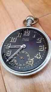 Early 1940's Military issued Rolex pocket watch in gun metal St. John's Newfoundland image 5