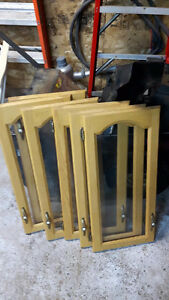 6 Glass Oak kitchen doors