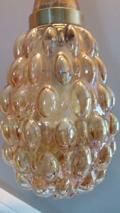 Vintage Carnival Glass Hanging Bubble Lamp