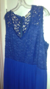 Blue Formal Evening Gown -Woodstock