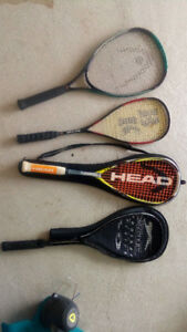Squash and tennis racquets