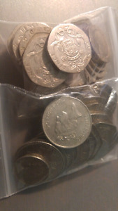 UK and Euro coins - Monnaie de Grande Bretagne