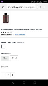 NEW Burberry men perfume