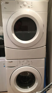 Whirlpool stackable washer and dryer set - White - $270