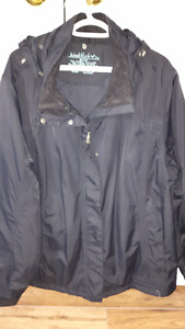 Ladies Black Insulated Jacket size 2XL.