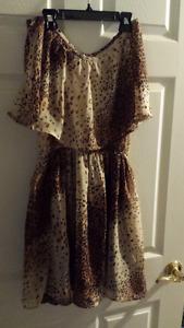 Leporad print dress