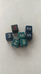 Ass't Speckle Dice x7 d6s