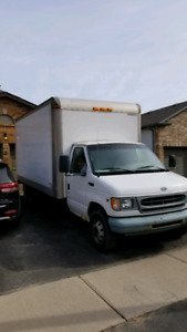 2003 Ford e 350 16 foot cube truck for sale