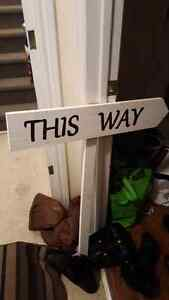 """This Way"" Wooden Sign"
