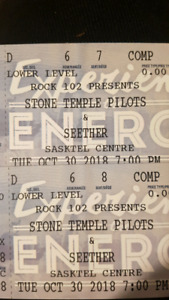 2 Tickets - STP & Seether