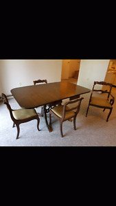Dining service and chairs