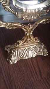 Antique beautiful brass mirror!