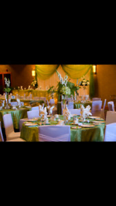 Apple green tablecloths