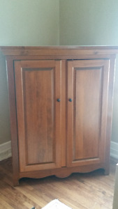 Custom made solid pine armoire