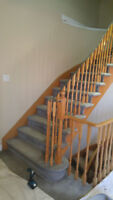 Stairs Refinishing/recapping/Stain/railings