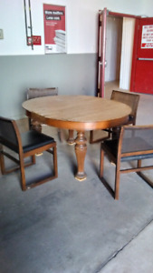 Delivered table and chairs