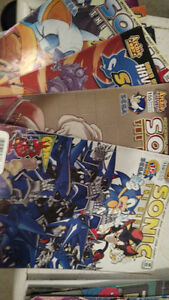 1st Edition Sonic the Hedgehog Comic LOT Super Digest