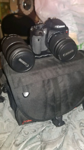 Canon Rebel T4i with camera bag 2 lenses