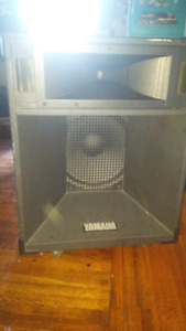 Big Yamaha dj speakers