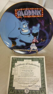 """A friend like me"" Aladdin Collector Plate"