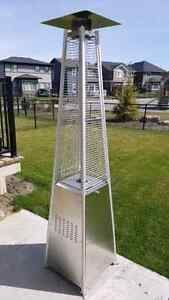 Stainless steel flame patio heater 40K btu