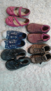 Girls - Size 11 kids shoes, 5 pairs