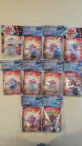 10 Bakugans - Original - All different each with a Metal Card