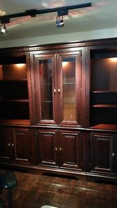 Display cabinet and bookcases