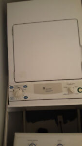 GE Spacemaker Stacked condo dryer and washer