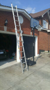 16 foot aluminium extension ladder.