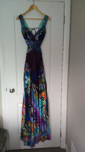 Satin, beaded gown, size 5/6