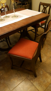 Table and Chairs with China Cabinet