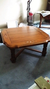 Solid pine coffee & 2 end tables