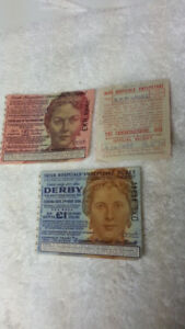 VINTAGE IRISH SWEEPSTAKES TICKETS - CIRCA 1959